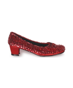 Red Sequin Shoes - Child Shoes