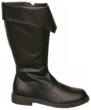 Black Men's Pirate Boots - Adult Accessory