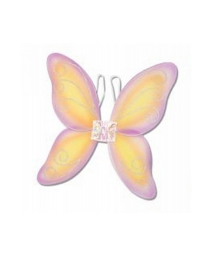 Wings Child Fairy Pink/yellow