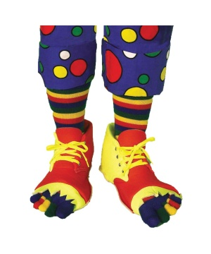 Clown Shoes & Toe Sock Adult Kit