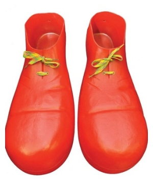Red Clown Plastic Adult Shoes