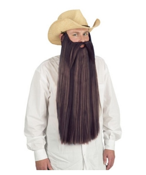 Brown Beard With Mustache Wig