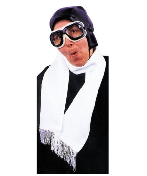 Aviator Scarf-white- Costume Accesory