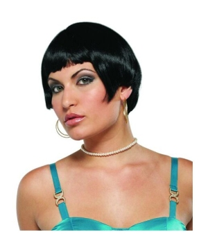 Black Flapper Adult Wig Costume Accessory