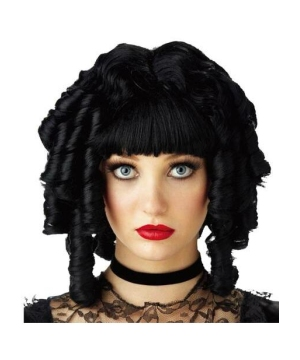 Black Ghost Doll Adult Wig