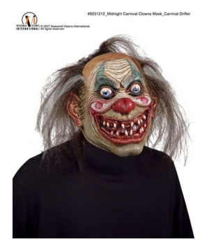 Carnival Drifter Clown Adult Mask
