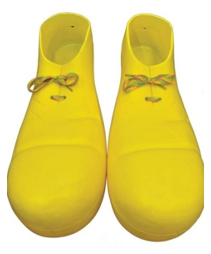 Yellow Plastic Clown Adult Shoes