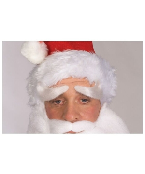 Santa Eyebrows - Adult Costume Accessory - Deluxe