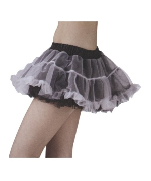 Tutu Skirt Black/white Adult Reversible Petticoat
