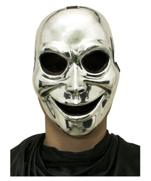 Silver Sinister Ghost Adult Mask