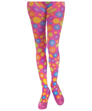Circus Sweetie Polka Dot Panty Hose Adult Accessory
