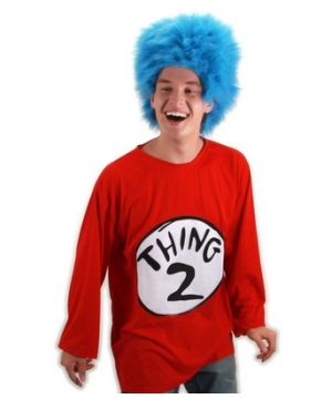 Thing 2 Adult Plus Size Costume Kit