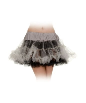 Black And Grey Petticoat Adult Tutu