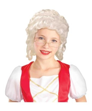 Colonial Girl Kids Wig