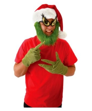 Grinch Hat And Beard Kit