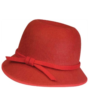Red Flapper Adult Hat