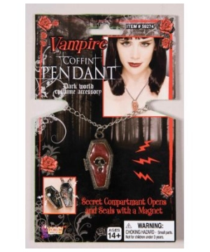 Vampire Coffin Adult Pendant