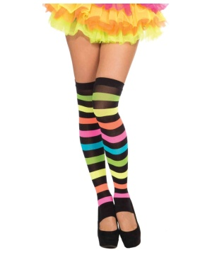 Club Rainbow Thigh High Stockings