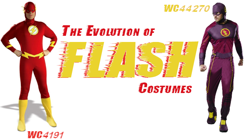 sc 1 st  Wonder Costumes & The Evolution Of Flash Costumes Over The Years