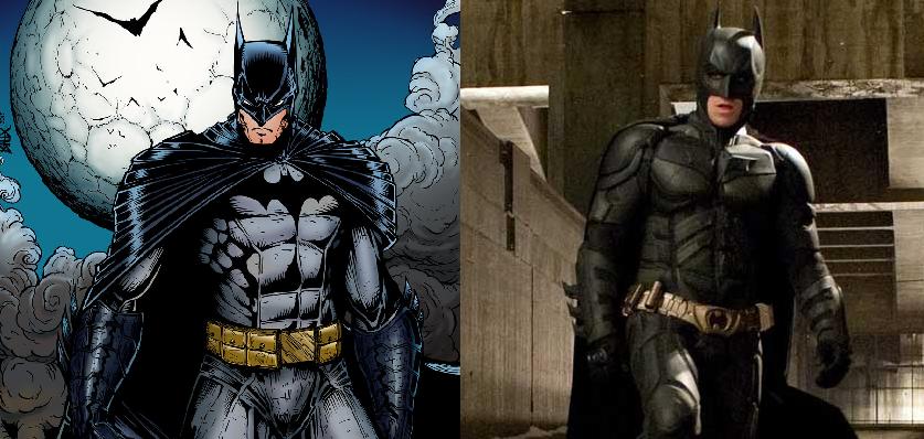 Batman-Comic-Vs-Batman-Movie-Suit & DC Comics Costumes: Accuracy on Movie Set