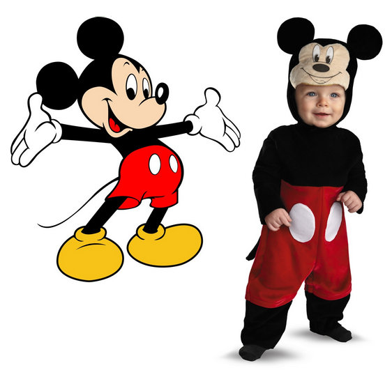 Mickey Costume Side by Side  sc 1 st  Wonder Costumes & Simple Mickey Mouse Costumes for Kids