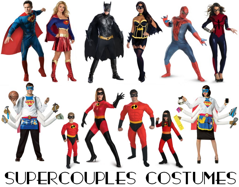 Supercouples-Classic-Superhero-Couples-Costumes & Creative Couples Costumes: Ideas for Halloween