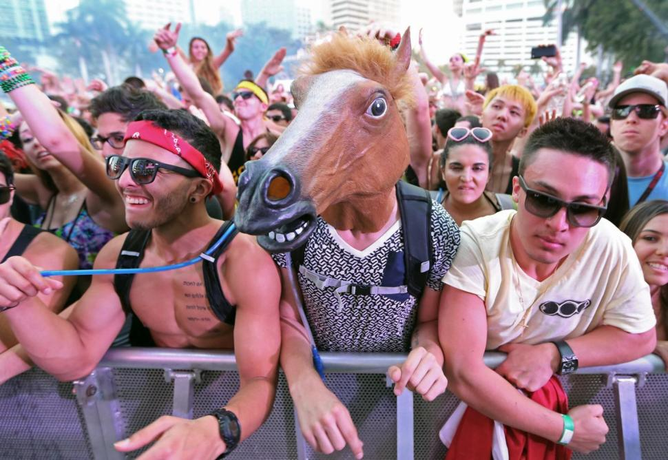 Ultra Fest Horse Man Costume in Crowd  sc 1 st  Halloween Costumes & All the Rave: Ultra Music Festival Costumes - EDM