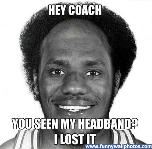 Where is Lebron's Headband?