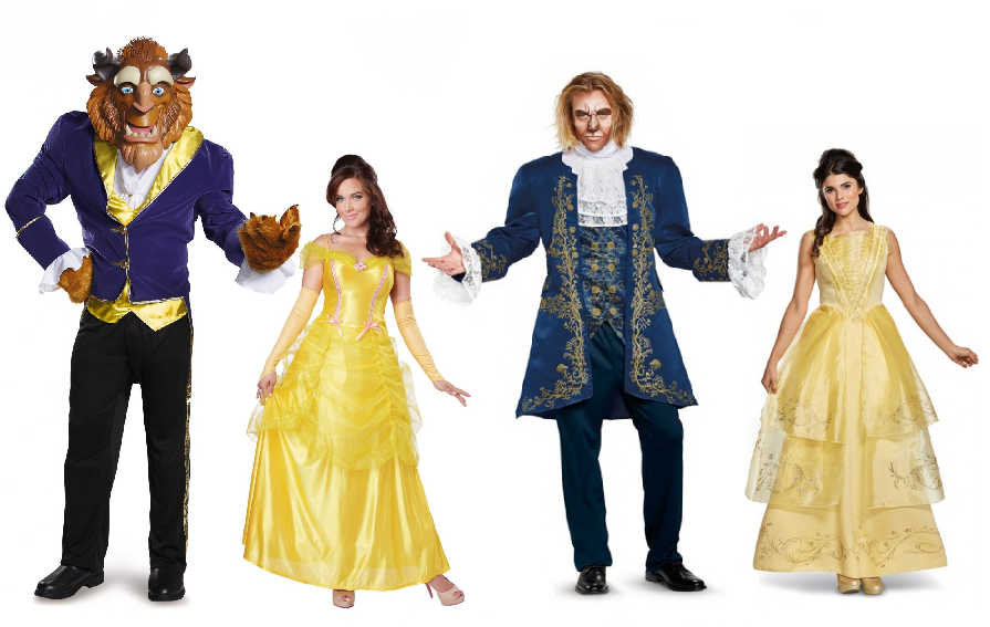 Beauty-and-the-Beast-Costumes-Old-vs-New  sc 1 st  Wonder Costumes & 2017 Beauty and the Beast Costumes Vs. 1991u0027s Animation