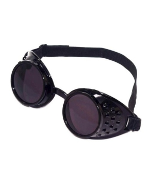 Black Steampunk Adult Goggles