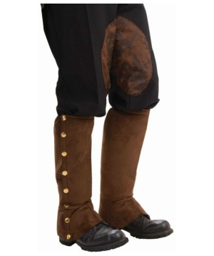 Brown Steampunk Adult Boot Covers Spats