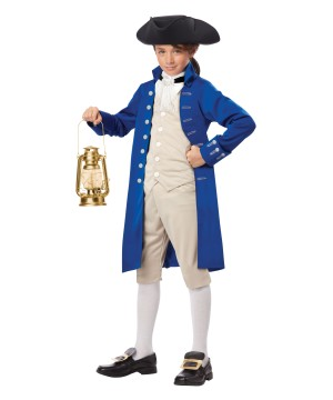 Fearless Paul Revere Boys Costume