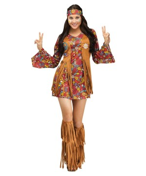 Peace and Love Hippie Women-s Costume