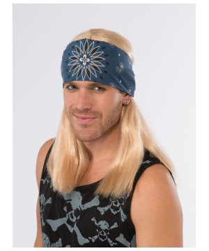 1980s Rock Star Bandana and Blonde Mens Wig Combo
