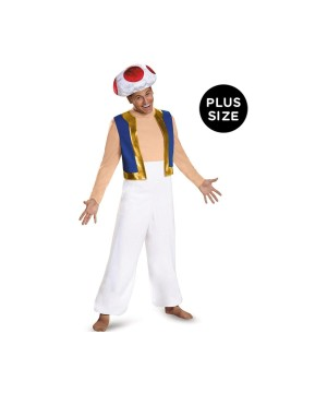 Super Mario Toad plus size Men Costume