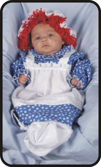 Little Raggedy Ann Baby Costume