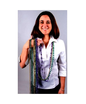Mardi Gras Beads 48 Inches Assorted Beads