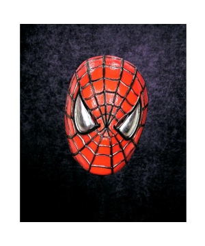 Plastic Spiderman Adult Mask