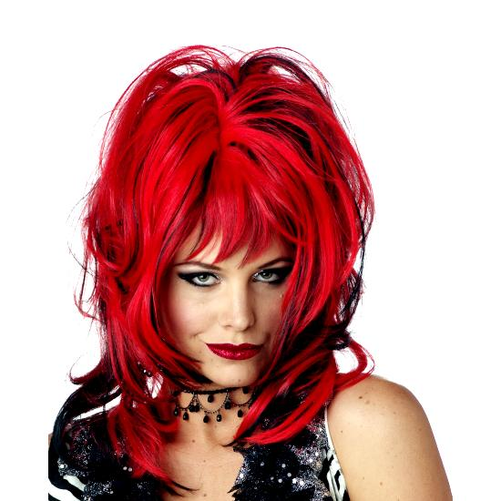 Wig Hard Rockin Witch Black Red