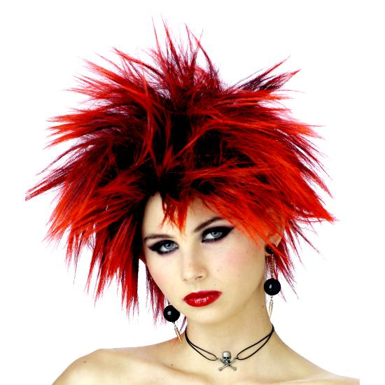 Red Punker Chick  Wig