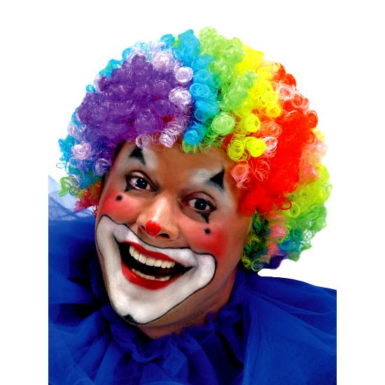7 Color Clown Men Wig