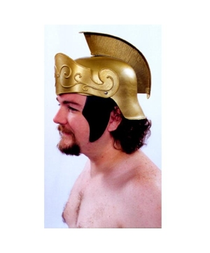 Mens Gold Roman Helmet