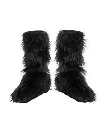 Kids Furry Boot Covers Costume Accessory