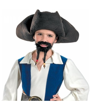 Disney Pirate Kids Hat With Mustache/goatee
