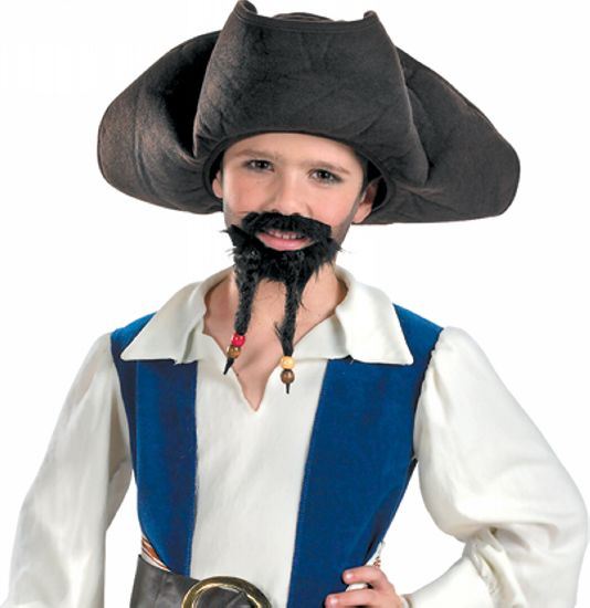 Disney Pirate Child Hat With Mustache/goatee