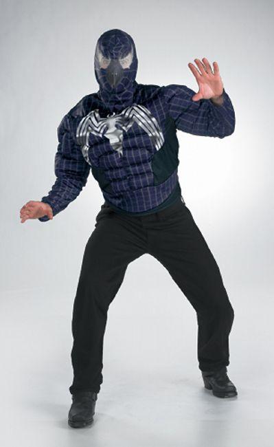 Adult Venom Muscle Movie Halloween Costume Teen/ Costume