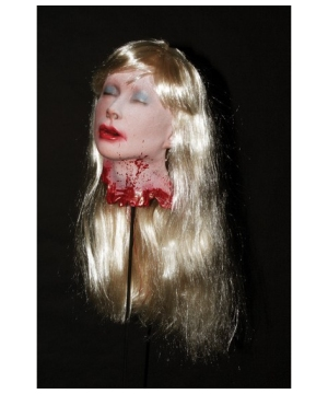 Blonde Debbie's Head Prop - Halloween Decoration