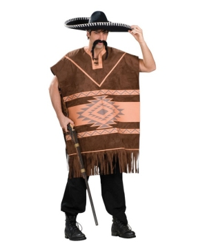 Mexican Poncho Adult Costume