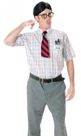 nerd adult costume kit