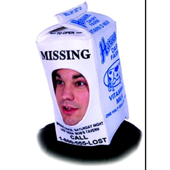 Milk Carton Halloween Hat